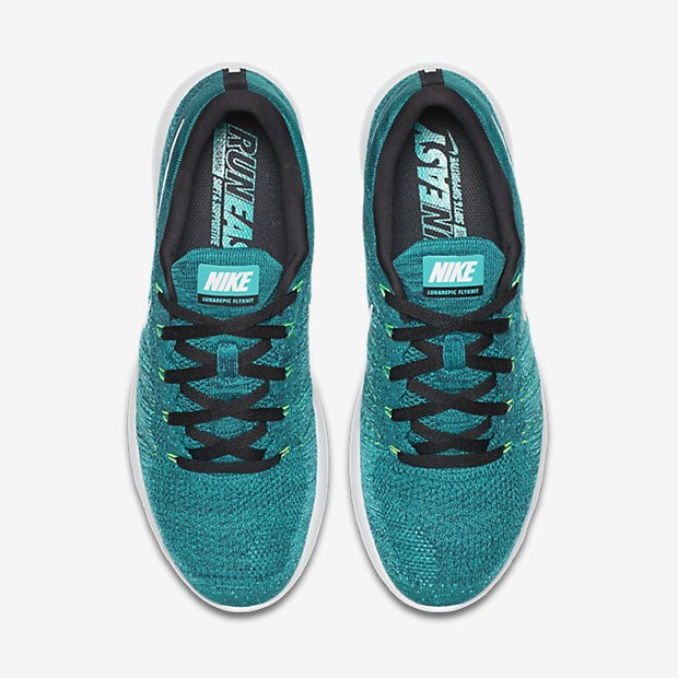 new concept a42ab 55176 ... Nike LunarEpic Low Flyknit Rio Teal Clear Jade Voltage Green White Mens  Running ...