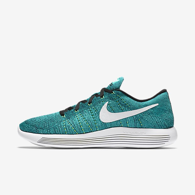 4896020a9781 ... Nike LunarEpic Low Flyknit Rio Teal Clear Jade Voltage Green White Mens  Running ...