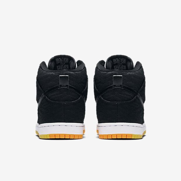 detailed look 92306 b2ecf ... Nike SB Dunk High Premium  Skunk  Black White Laser Orange Black ...