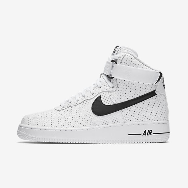 668d1dae28e9 Nike Air Force 1 High 07 White Black Mens Shoes Outlet Online