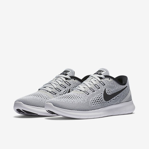 ea12228abe5d ... Nike Free RN White Pure Platinum Black Womens Running Shoes ...