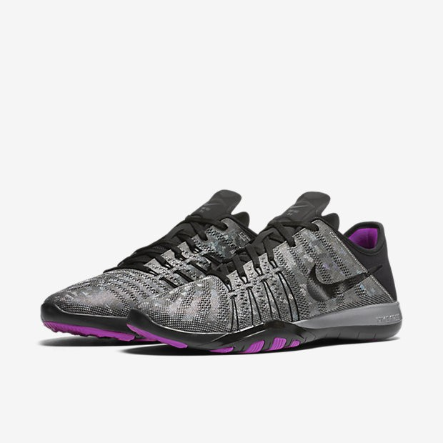 6d880d318b520 ... Nike Free TR 6 Metallic Metallic Silver Hyper Violet Black Womens  Training Shoes ...