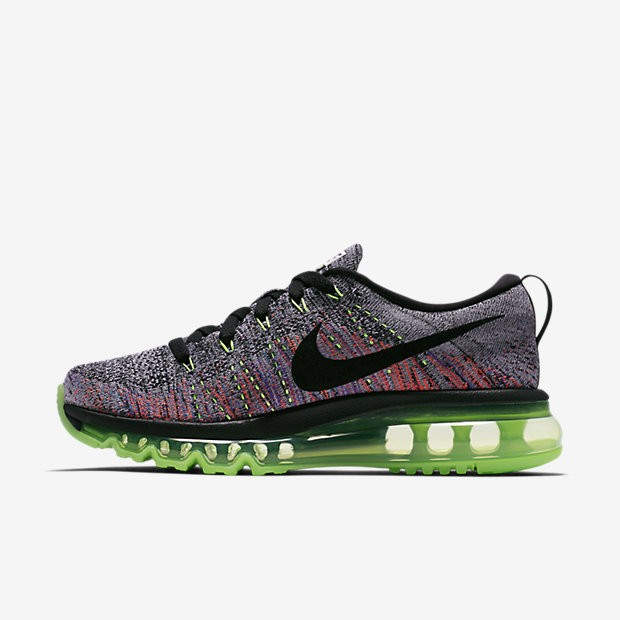 new arrival 28cef f101e ... australia nike flyknit air max white ghost green bright mango black  womens running shoes d38a3 7c585