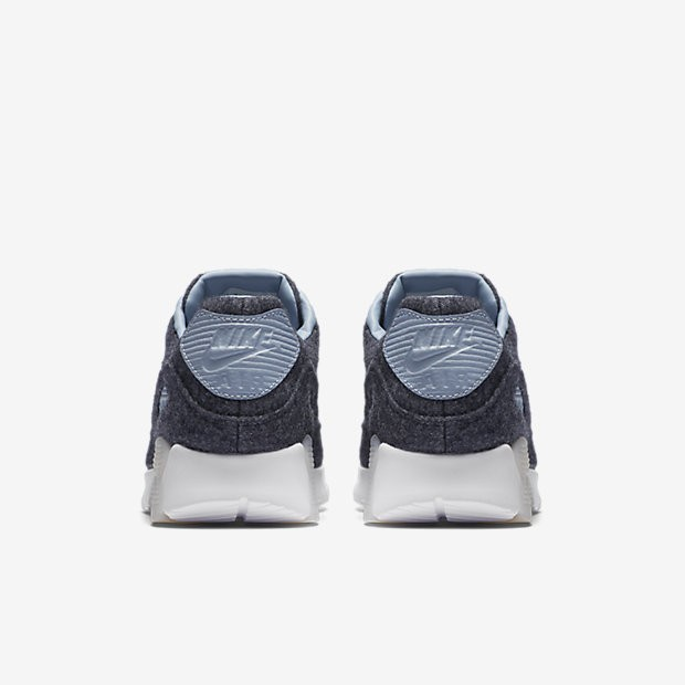 new style bfe1f 195e2 ... Nike Air Max 90 Ultra Premium Midnight Navy White Blue Grey Womens Shoes