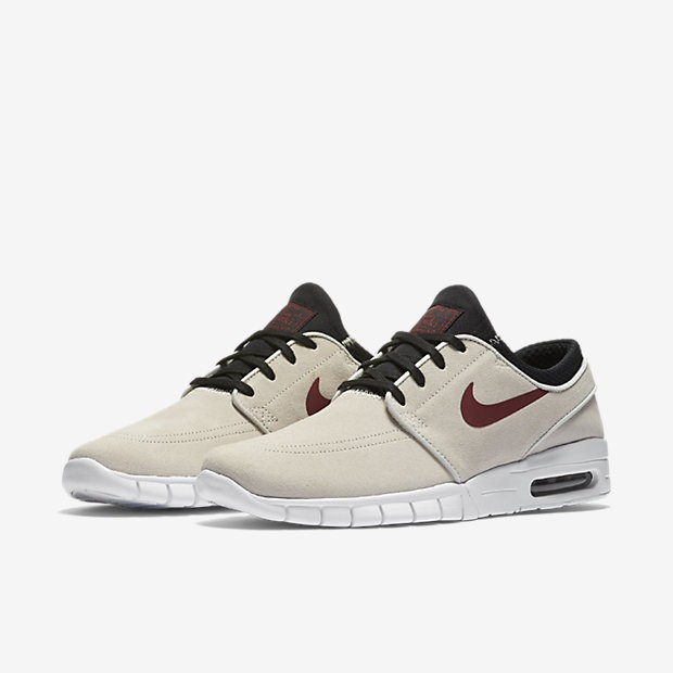buy popular 8856c add4c ... Nike SB Stefan Janoski Max L Light Bone Black White Team Red Mens ...