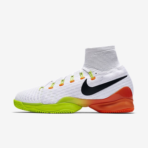 buy cheap f8bf4 a39f5 ... Nike Court Air Zoom Ultrafly White Total Orange Volt Black unisex Tennis  Shoes ...