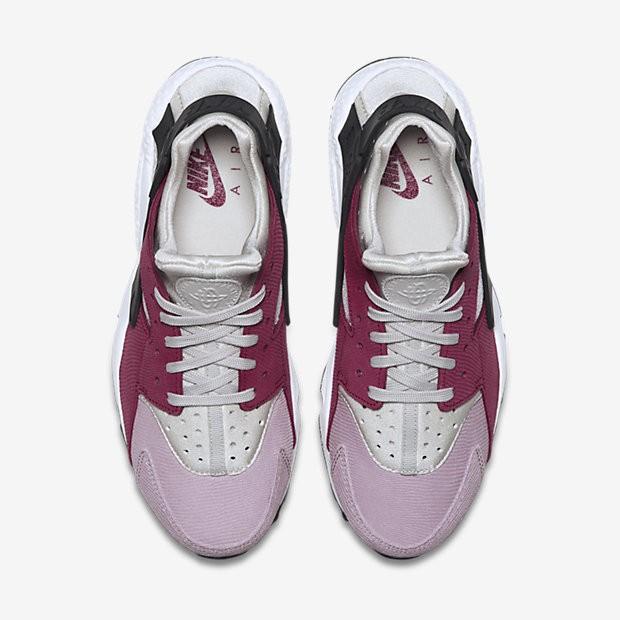 f40332f05fb8 ... Nike Air Huarache Premium Light Bone Noble Red Plum Fog-Black Womens  Shoes ...