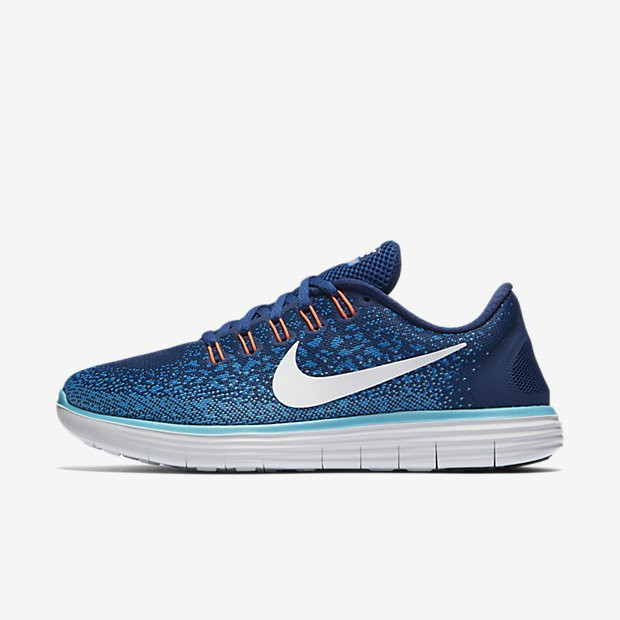 48b9abc06fd7 ... Nike Free RN Distance Coastal Blue Off White Heritage Cyan Womens  Running Shoes ...