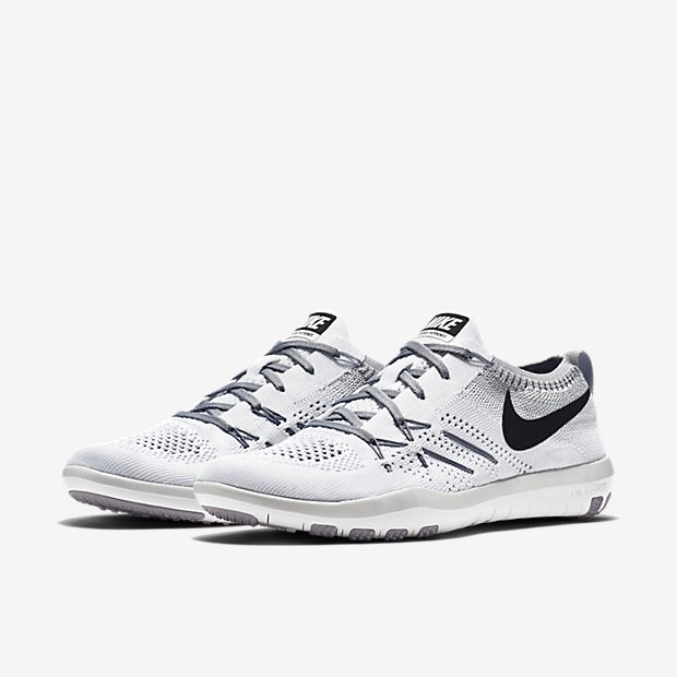 0551d7ef9827 ... Nike Free TR Focus Flyknit White Wolf Grey Black Womens Training Shoes  ...