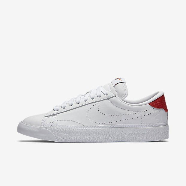 cdd5f125cc71 ... Nike Lab Air Zoom Tennis Classic x fragment White White University Red  Womens Shoes ...