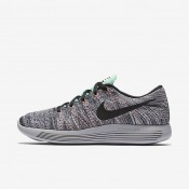 Nike LunarEpic Low Flyknit White/Bright Mango/Gamma Blue/Black Mens Running Shoes