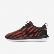 Nike Roshe Two Flyknit Black/Bright Crimson/White/Black Mens Shoes