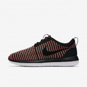Nike Roshe Two Flyknit Black/Bright Crimson/Clear Jade/Black Mens Shoes
