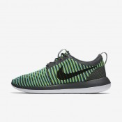 Nike Roshe Two Flyknit Dark Grey/Gamma Blue/Volt/Black Mens Shoes