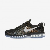 Nike Flyknit Air Max Black/Blue Glow/Bright Citrus/Summit White Mens Running Shoes