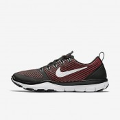 Nike Free Train Versatility Black/Action Red/White Mens Training Shoes