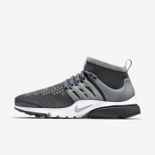 Nike Air Presto Ultra Flyknit Dark Grey/White/Green Glow/Wolf Grey Mens Shoes