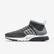 Nike Air Presto Ultra Flyknit Dark Grey/White/Green Glow/Wolf Grey Mens Shoes