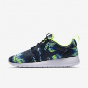 Nike Roshe One Knit Jacquard Obsidian/Volt/Bluecap/Obsidian Mens Shoes