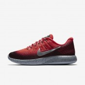 Nike LunarGlide 8 Shield Bright Crimson/Black/Stealth/Metallic Silver Mens Running Shoes