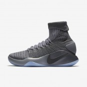 Nike Hyperdunk 2016 Flyknit Dark Grey/Cool Grey/Metallic Platinum Mens Basketball Shoes
