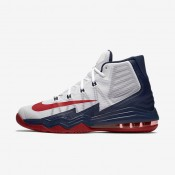 Nike Air Max Audacity 2016 White/Midnight Navy/Pure Platinum/University Red Mens Basketball Shoes