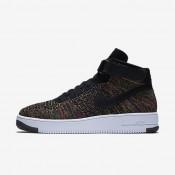 Nike Air Force 1 Ultra Flyknit Black/Court Purple/Volt/Bright Crimson Mens Shoes