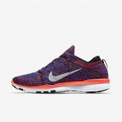 Nike Free TR 5 Flyknit Black/Racer Blue/Bright Crimson/White Womens Training Shoes