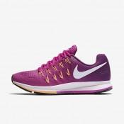 Nike Air Zoom Pegasus 33 Fire Pink/Bright Grape/Peach Cream/White Womens Running Shoes