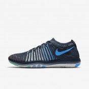 Nike Free Transform Flyknit Squadron Blue/Green Glow/Summit White/Blue Glow Womens Training Shoes