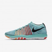 Nike Free Transform Flyknit Hyper Turquoise/Bright Mango/Peach Cream/Black Womens Training Shoes
