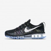 Nike Flyknit Air Max Black/Ghost Green/Fire Pink/Summit White Womens Running Shoes
