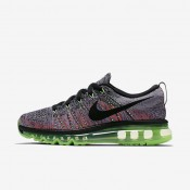 Nike Flyknit Air Max White/Ghost Green/Bright Mango/Black Womens Running Shoes