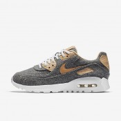 Nike Air Max 90 Ultra Premium Cool Grey/White/Vachetta Tan Womens Shoes