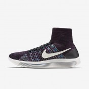 Nike LunarEpic Flyknit Black/Fire Pink/Blue Glow/Summit White Womens Running Shoes