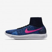 Nike LunarEpic Flyknit Black/Blue Glow/Deep Royal Blue/Pink Blast Womens Running Shoes