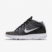 Nike Flyknit Chukka Black/White Womens Golf Shoes
