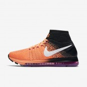 Nike Air Zoom All Out Flyknit Peach Cream/Black/Fire Pink/White Womens Running Shoes