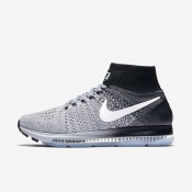 Nike Air Zoom All Out Flyknit Wolf Grey/Black/Pure Platinum/White Womens Running Shoes