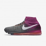 Nike Air Zoom All Out Flyknit Wolf Grey/Fire Pink/Bright Mango/Black Womens Running Shoes