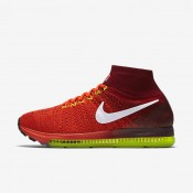 Nike Air Zoom All Out Flyknit Bright Crimson/Team Red/Volt/White Womens Running Shoes