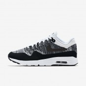 Nike Air Max 1 Ultra Flyknit White/Black/Black Womens Shoes