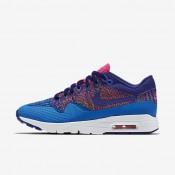 Nike Air Max 1 Ultra Flyknit Photo Blue/Pink Blast/Gold Lead/Deep Royal Blue Womens Shoes