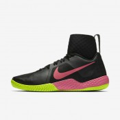 Nike Court Flare Black/Volt/Pink Blast Womens Tennis Shoes