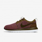 Nike Roshe Two Flyknit Olive/Racer Blue/Pink Blast Womens Shoes