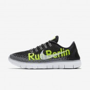 Nike Free RN Distance LE (Berlin 2016) Black/Volt/Anthracite/White Womens Running Shoes