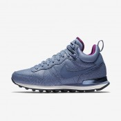 Nike Internationalist Mid Leather Ocean Fog/Obsidian/Bright Grape/Ocean Fog Womens Shoes