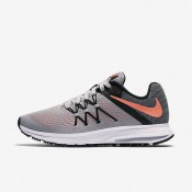 Nike Zoom Winflo 3 Wolf Grey/Black/White/Bright Mango Womens Running Shoes