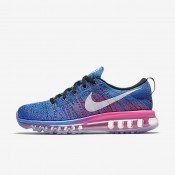 Nike Flyknit Air Max Black/Blue Glow/Racer Blue/White Womens Running Shoes