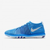 Nike Free Transform Flyknit Blue Glow/Deep Royal Blue/Racer Blue/White Womens Training Shoes